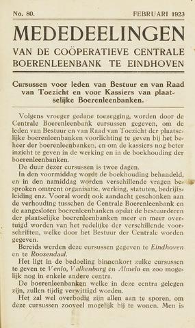 blad 'Maandelijkse Mededelingen' (CCB) 1923-02-01