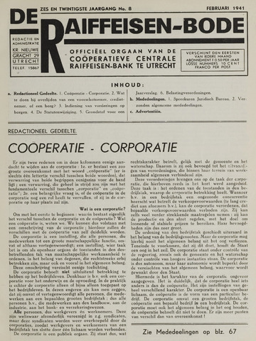 blad 'De Raiffeisen-bode' (CCRB) 1941-02-01
