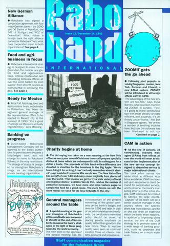 blad 'Raboband International' (EN) 1992-12-14