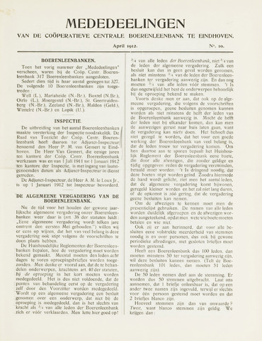 blad 'Mededeelingen' (CCB) 1912-04-01