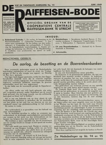 blad 'De Raiffeisen-bode' (CCRB) 1940-06-01