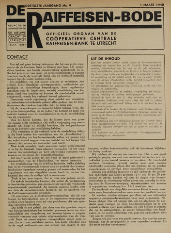 blad 'De Raiffeisen-bode' (CCRB) 1948-03-01