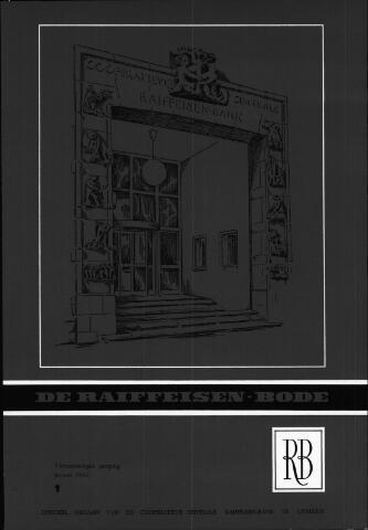 blad 'De Raiffeisen-bode' (CCRB) 1962-01-01