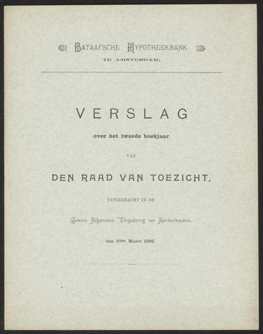 Jaarverslagen Bataafsche Hypotheekbank 1891