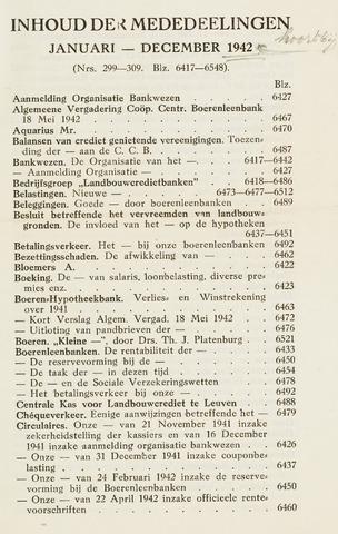 blad 'Maandelijkse Mededelingen' (CCB) 1942
