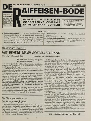 blad 'De Raiffeisen-bode' (CCRB) 1939-09-01