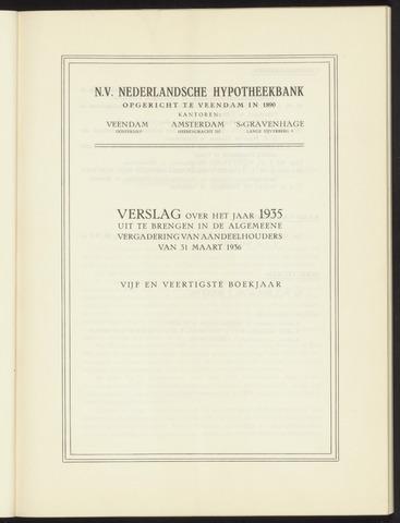 Jaarverslagen Nederlandsche Hypotheekbank 1935