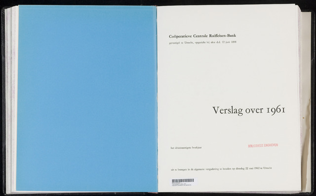 Jaarverslagen Coöperatieve Centrale Raiffeisen-Bank 1961-12-31