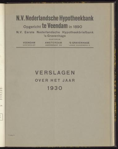 Jaarverslagen Nederlandsche Hypotheekbank 1930