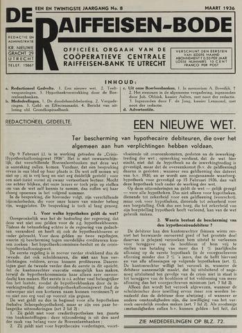 blad 'De Raiffeisen-bode' (CCRB) 1936-03-01