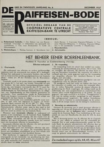 blad 'De Raiffeisen-bode' (CCRB) 1937-12-01