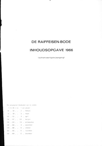 blad 'De Raiffeisen-bode' (CCRB) 1966-01-01