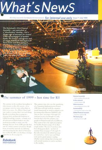 blad 'What's news' (EN) 1999-07-01