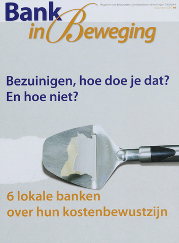 blad 'Bank in Beweging' 2009-11-01