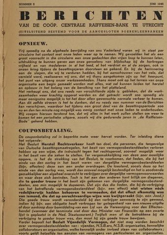 blad 'Berichten' (CCRB) 1945-06-01