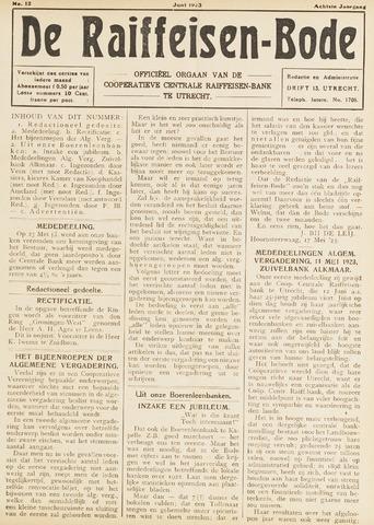 blad 'De Raiffeisen-bode' (CCRB) 1923-06-01