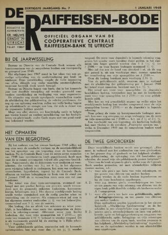 blad 'De Raiffeisen-bode' (CCRB) 1948-01-01