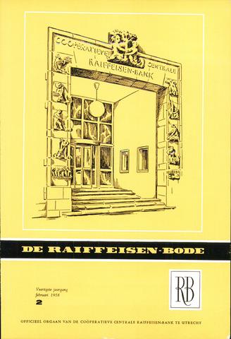 blad 'De Raiffeisen-bode' (CCRB) 1958-02-01