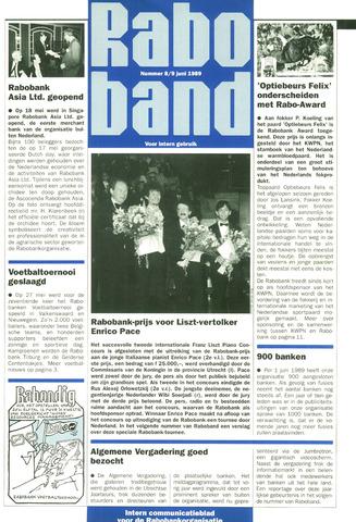 blad 'Raboband' 1989-06-09