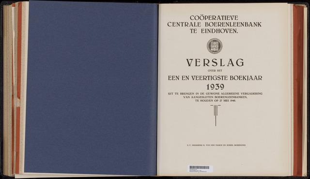 Jaarverslagen Coöperatieve Centrale Boerenleenbank 1939-12-31