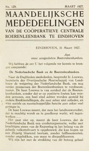 blad 'Maandelijkse Mededelingen' (CCB) 1927-03-01