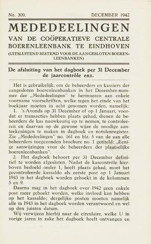 blad 'Maandelijkse Mededelingen' (CCB) 1942-12-01