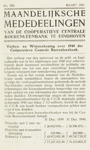 blad 'Maandelijkse Mededelingen' (CCB) 1941-03-01