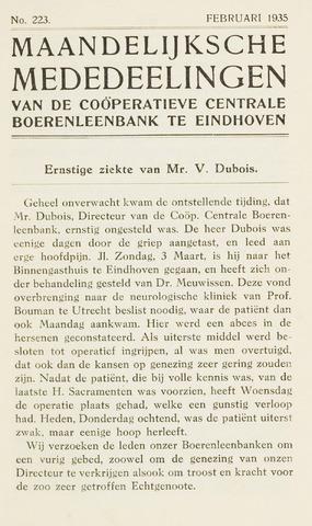 blad 'Maandelijkse Mededelingen' (CCB) 1935-02-01