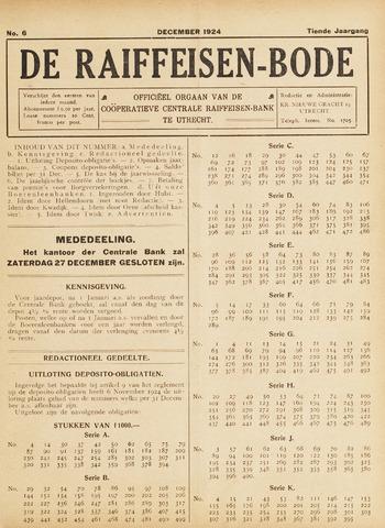 blad 'De Raiffeisen-bode' (CCRB) 1924-12-01