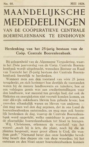 blad 'Maandelijkse Mededelingen' (CCB) 1924-05-01