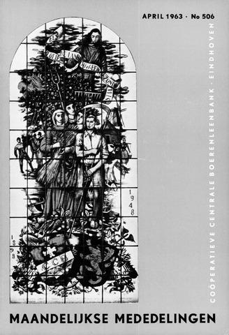 blad 'Maandelijkse Mededelingen' (CCB) 1963-04-01