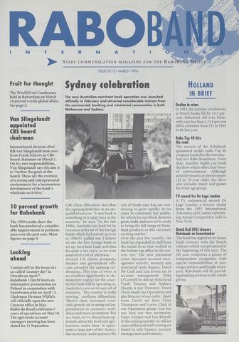 blad 'Raboband International' (EN) 1994-03-21