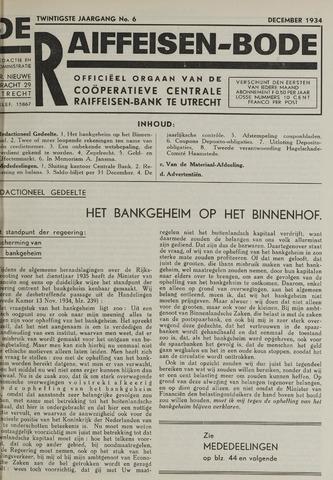 blad 'De Raiffeisen-bode' (CCRB) 1934-12-01