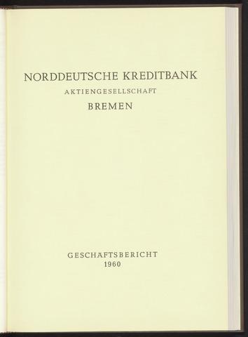 Geschäftsberichte Norddeutsche Kreditbank 1960-01-01
