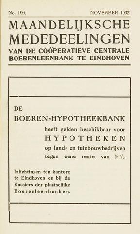 blad 'Maandelijkse Mededelingen' (CCB) 1932-11-01