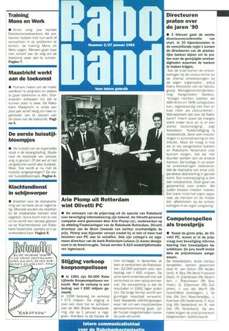 blad 'Raboband' 1992-01-27