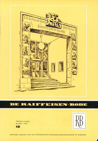 blad 'De Raiffeisen-bode' (CCRB) 1958-12-01