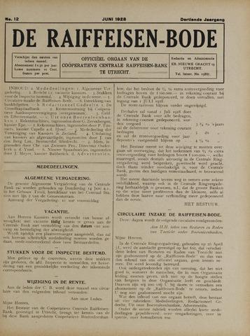 blad 'De Raiffeisen-bode' (CCRB) 1928-06-01