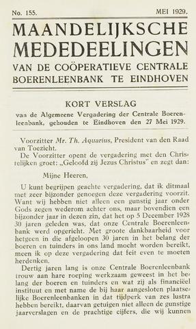 blad 'Maandelijkse Mededelingen' (CCB) 1929-05-01