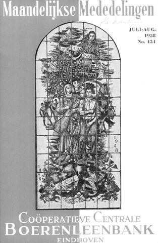 blad 'Maandelijkse Mededelingen' (CCB) 1958-07-01