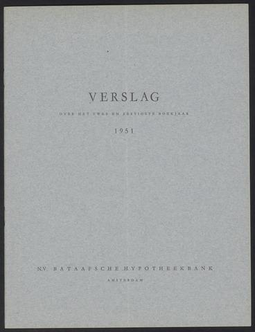 Jaarverslagen Bataafsche Hypotheekbank 1951