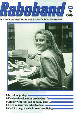 blad 'Raboband' 1986-11-26