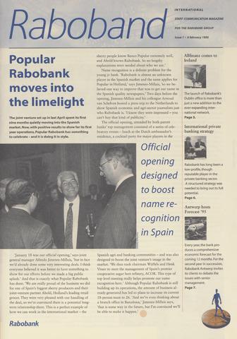 blad 'Raboband International' (EN) 1995-02-06