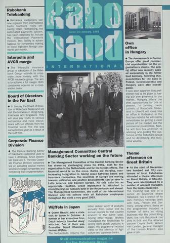 blad 'Raboband International' (EN) 1992