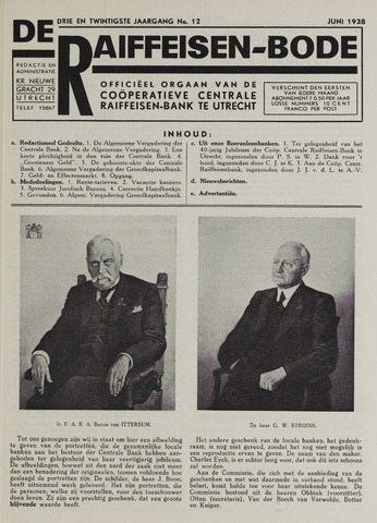 blad 'De Raiffeisen-bode' (CCRB) 1938-06-01