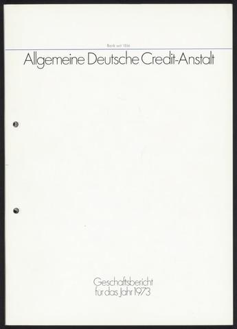 Geschäftsberichte Allgemeine Deutsche Credit-Anstalt / ADCA Bank 1973-01-01