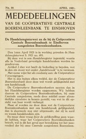 blad 'Maandelijkse Mededelingen' (CCB) 1921-04-01