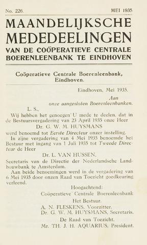 blad 'Maandelijkse Mededelingen' (CCB) 1935-05-01