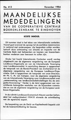 blad 'Maandelijkse Mededelingen' (CCB) 1954-11-01