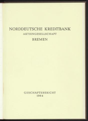 Geschäftsberichte Norddeutsche Kreditbank 1964-01-01
